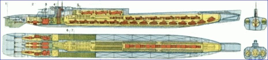 грузовые подводные лодки ссср